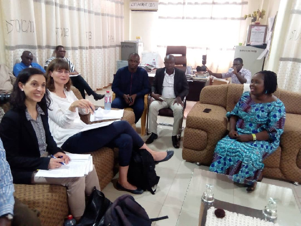 Some staff of the German Development Bank in a meeting with key stakeholders of COTVET
