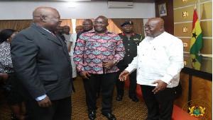 President Akufo-Addo, Dr Bawumia and the Special Prosecutor Martin Amidu