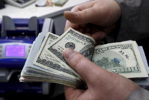 Dollars at display