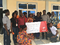 Airtel Ghana employees raise funds to support fight against breast cancer