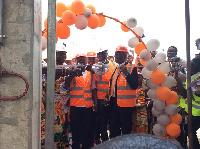 Dr. Amin Anta commissions a 13.5 million litre Marine Gas Oil Tank facility in Takoradi