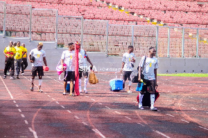 Black Stars B training at the Baba Yara Stadium on Friday