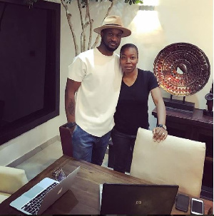 Mr P and his new manager Emem