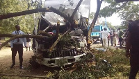 The accident occurred when a truck driver lost control due to a break failure