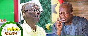 Kweku Baako Jnr and John Dramani Mahama