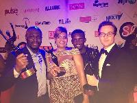 Nana Obiri Yeboah and team with their awards