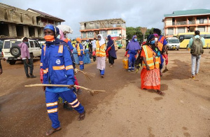 The ongoing disinfection exercise in the region