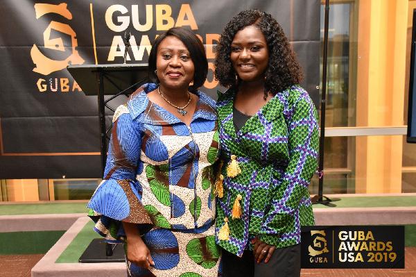Dentaa Amoateng with Martha Pobee, Permanent Representative of Ghana to UN