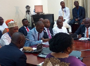 A cross-section of some members of the minority in parliament