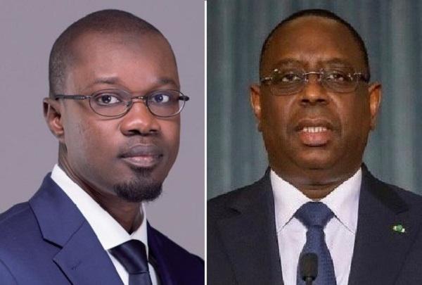 Sonko (l) insists President Macky Sall is engineering the rape issue