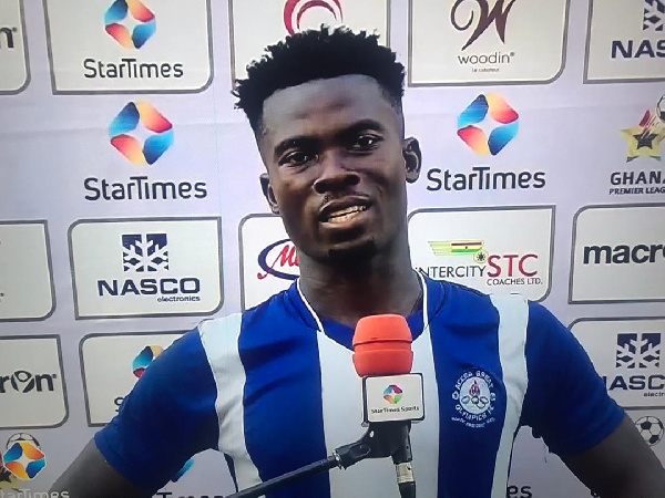 2021 GPL: Olympics defender named Man of the Match against Asante Kotoko