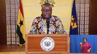 President Nana Addo Dankwa Akufo-Addo addressing Ghanaians