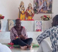 Kobby Acheampong at Hare Krishna Temple
