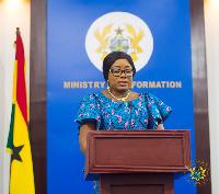 Mrs Cynthia Morrison, Gender Minister