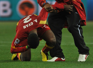 Gyan's missed penalty ended Ghana dream at the 2010 World Cup
