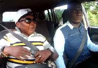 Actor Wayoosi with blogger Zionfelix on celebrity Ride