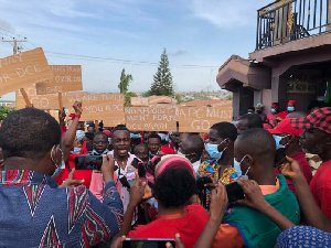 The protesters were drawn from Krobo, Hemang, Ntiri Buoho, and other adjoining communities