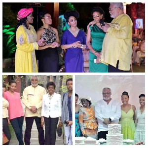 The late Former President, JJ Rawlings and his family