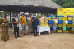 Mr Dentu gave the advice when GTA donated PPEs to the Wood Craft and Cane Weavers Association
