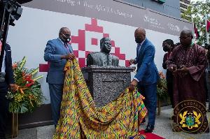 Mahamadou's Statue Unveiling