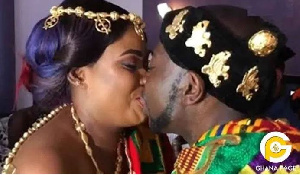 Nayas got married to her German-based Ghanaian boyfriend in a private ceremony in Accra