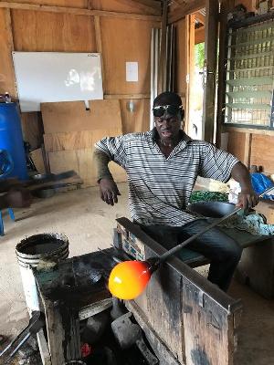 Michael Tetteh is a professional glassblower