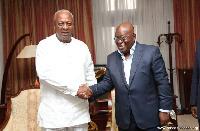 President Akufo-Addo with John Mahama