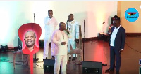 A song was ministerd to honour him by his ministries