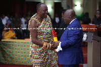 President Nana Addo Dankwa Akufo-Addo with Nana Otuo Siriboe II, Council of State Chairman