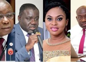 Kwaku Agyeman-Manu, Kwaku Ofori Asiamah, Sarah Adwoa Safo and Kojo Oppong-Nkrumah