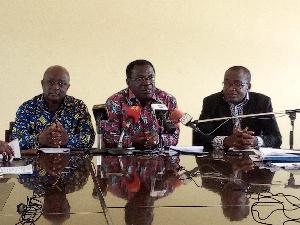 Prof Christopher Akumfi-Ameyaw (m) & 2 members of the Brong-Ahafo 60th anniversary committee