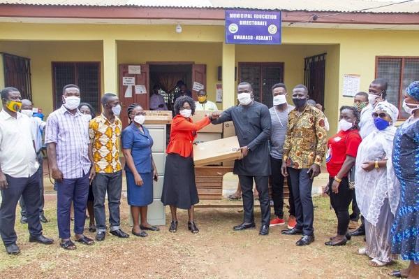 Kwadaso MP donates office equipment to Kwadaso Municipal Education  Directorate