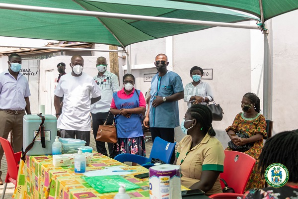 Mayor of Accra takes first coronavirus jab, tours vaccination centres