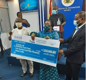 The NHIA presented to money to the Fund on Wednesday