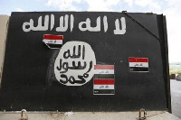 Library photo: ISIS flag
