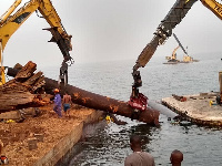 Some of the timber salvaged from the Volta Lake concession