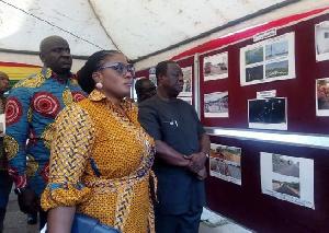 Kwasi Amoako-Atta with Deputy Roads Minister and Deputy Information Minister, Dokuaa Asiamah Agyei
