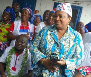Mrs. Rebecca Akufo-Addo at the Lante Dzan We