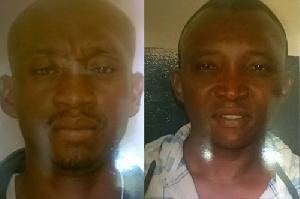 Seidu Alhassan and Lukeman Adams in police custody