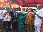 Mavis Hawa Koomson, MP for Awutu Senya  East commissioning a CHIPS Compound