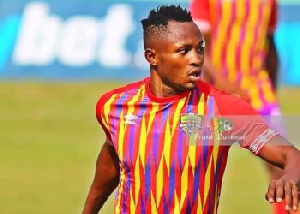 Esso, played 14 games and netted on three occasions in the cancelled 2019/2020 Ghana Premier League