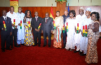 President Akufo-Addo and his former ministers