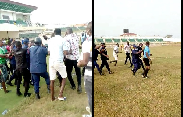 Elmina Sharks fans attack referee after home defeat to Medeama