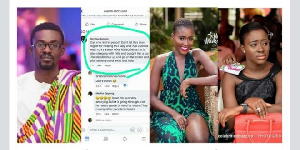 Zylofon Media boss (L) is being accused of having an affair with Fella Makafui (R)