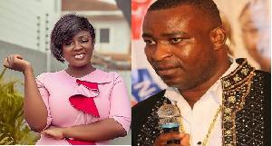 Actress Tracey Boakye and NPP Ashanti Regional Chairman, Bernard Antwi Boasiako aka Chairman Wontumi