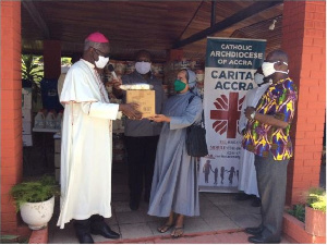 Catholic Archdiocese of Accra making the presentation