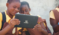 Some students with the tablet