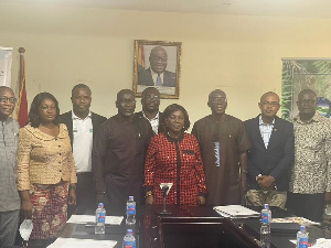 Minister for Sanitation and Water Resources, Cecilia Dapaah with the WRC Board
