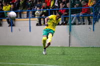 David Addy was in action for his side