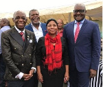 Dr Mensah with the First Lady of Gauten and Premier of Gauten HE. David Makhura